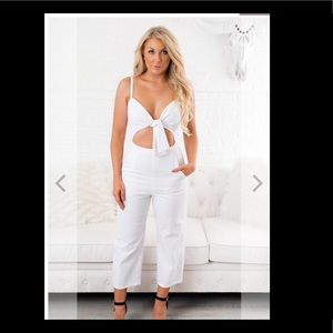 White jumpsuit-sold